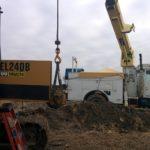 crane and pump